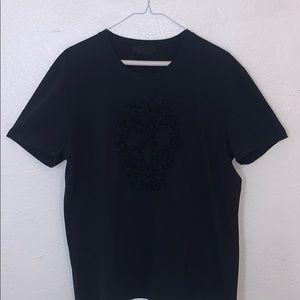 Alexander McQueen embroidered skull t shirt